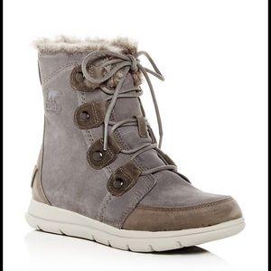 Sorel waterproof suede boots.